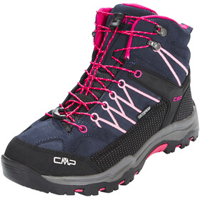 CMP Campagnolo Rigel Mid WP Trekking Shoes Junior Black Blue-Rose